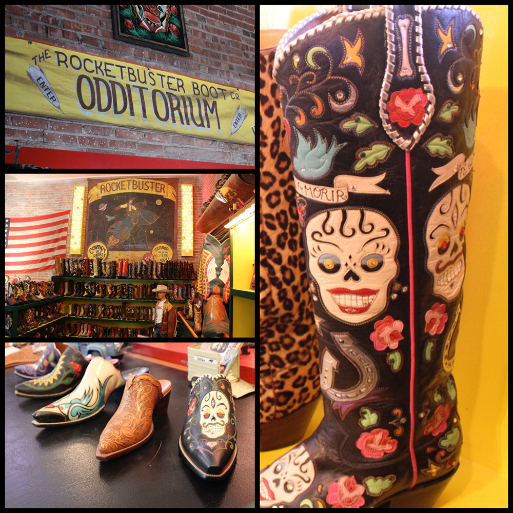 Vintage everywhere...The Amazing Showroom has so many great boots to see...It's a Shoe...no it's a Boot...It's a Mule...