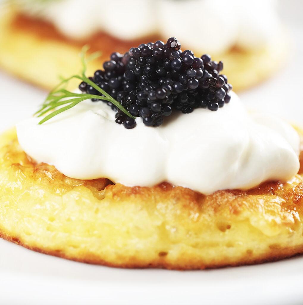 Caviar Dreams-Blinis with caviar