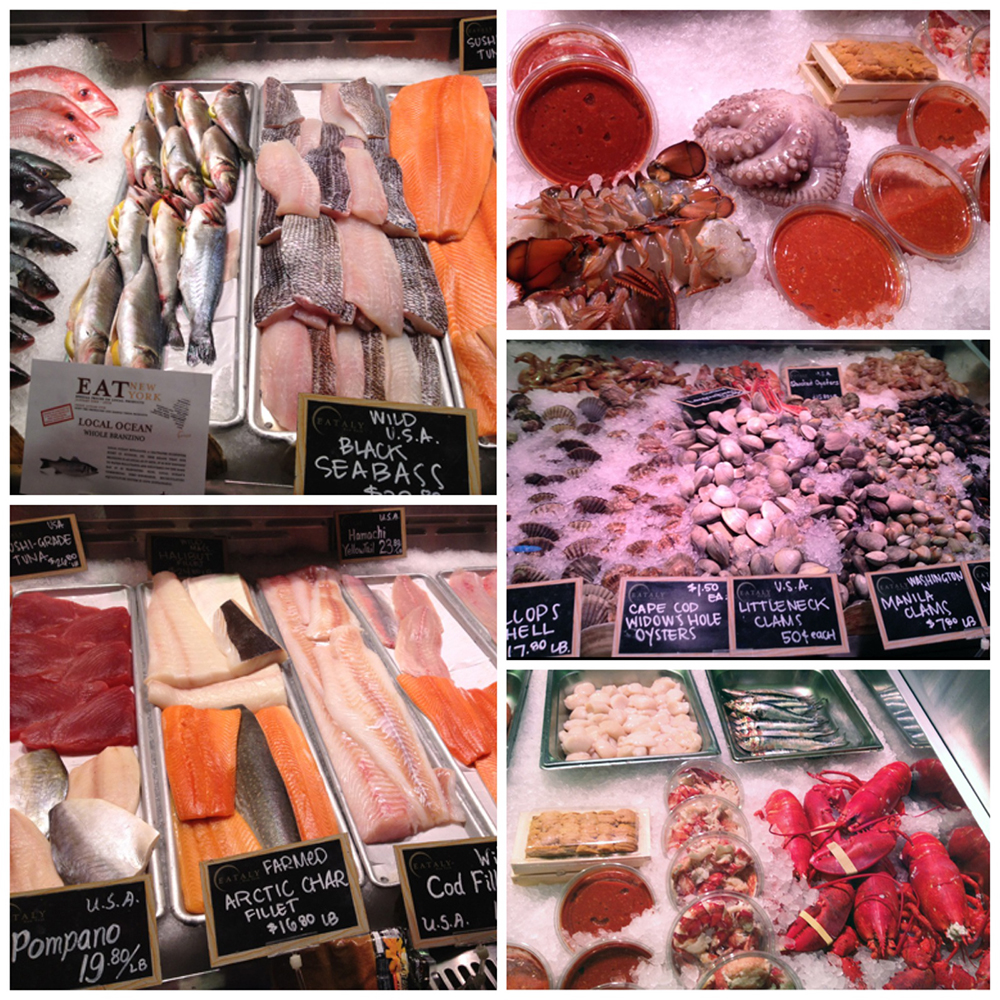 Local Seafood from caught fresh from the waters of Long Island. Lobster Tails & Octopus. Daily Seafood Pompano, Salmon, Arctic Char & Cod. Fresh shellfish from a sustainable freshwater fishery.