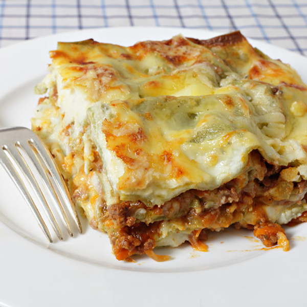 Lasagna Bolognese with Spinach Feat