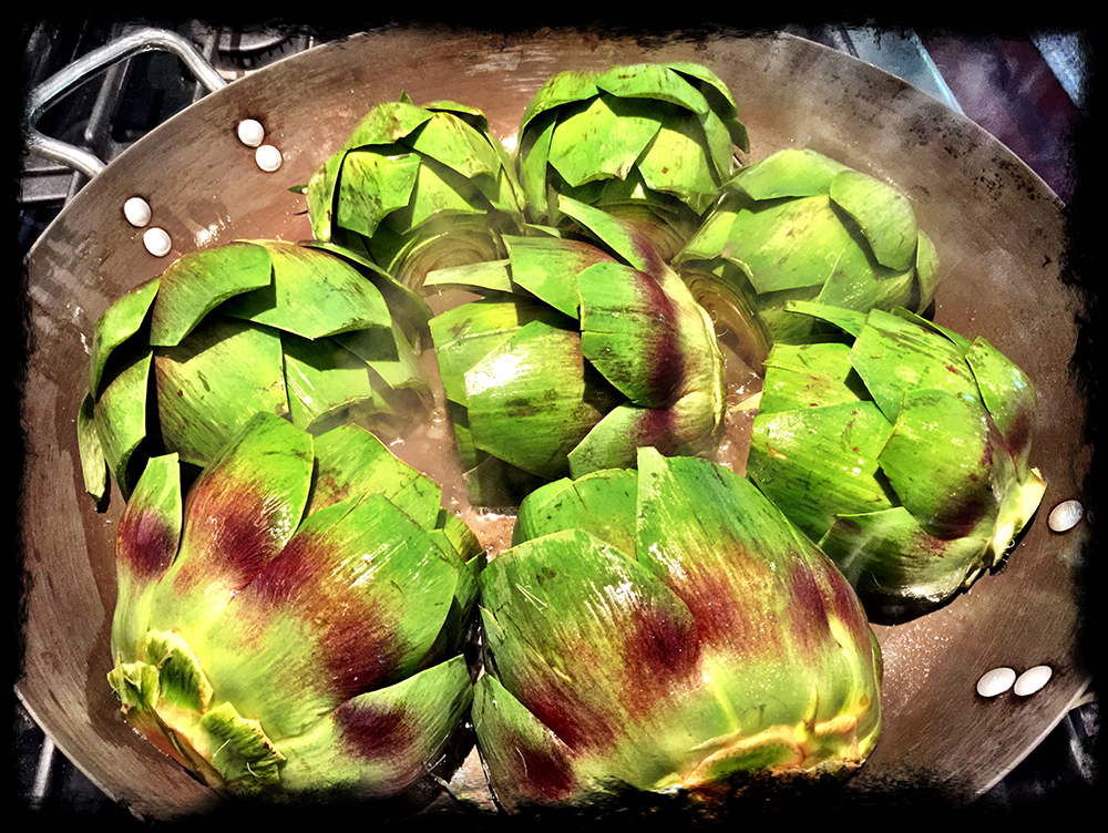 braised artichoke-brown