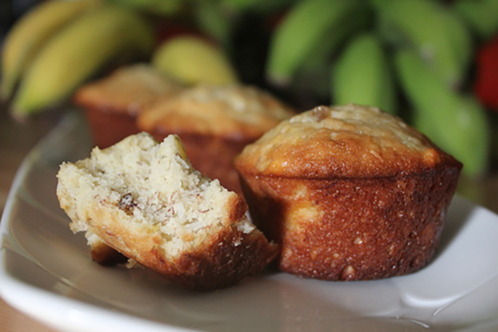 Banana Bread Muffins Hawaiian Style Bite
