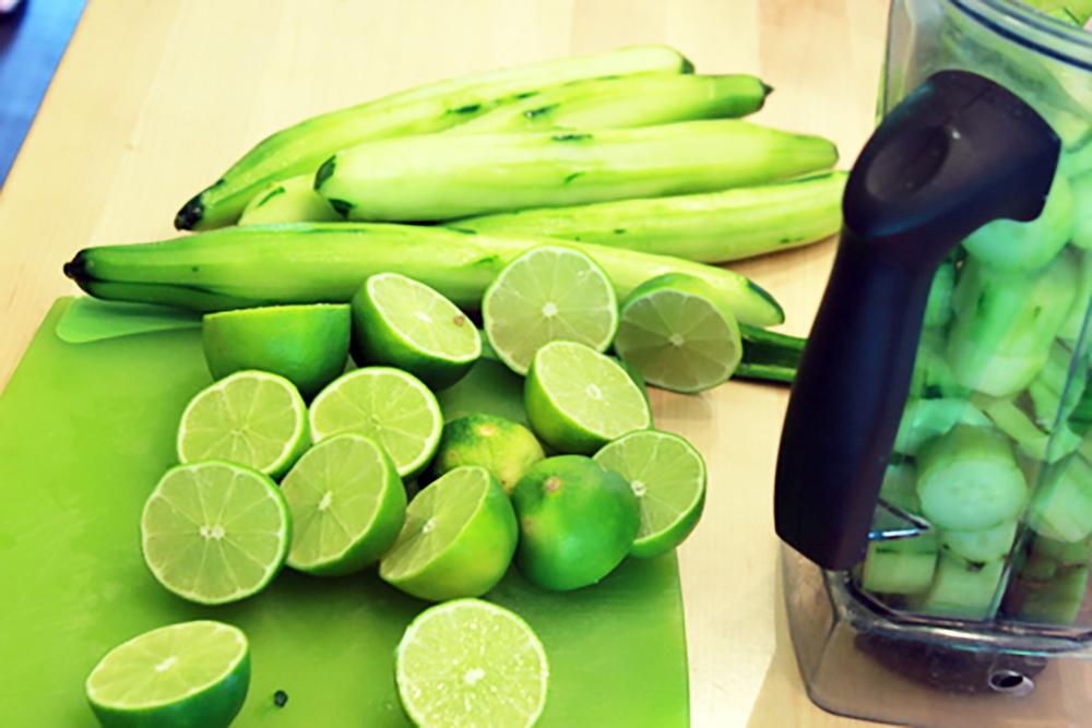 Cucumber Cumbia Chop shot