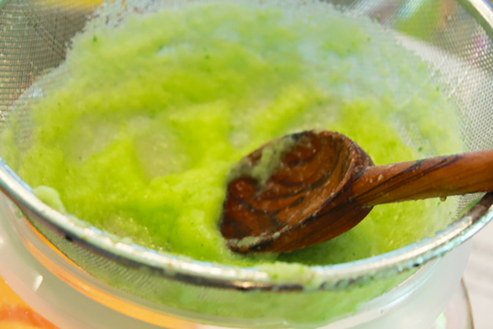 Cucumber Cumbia Puree spoon shot