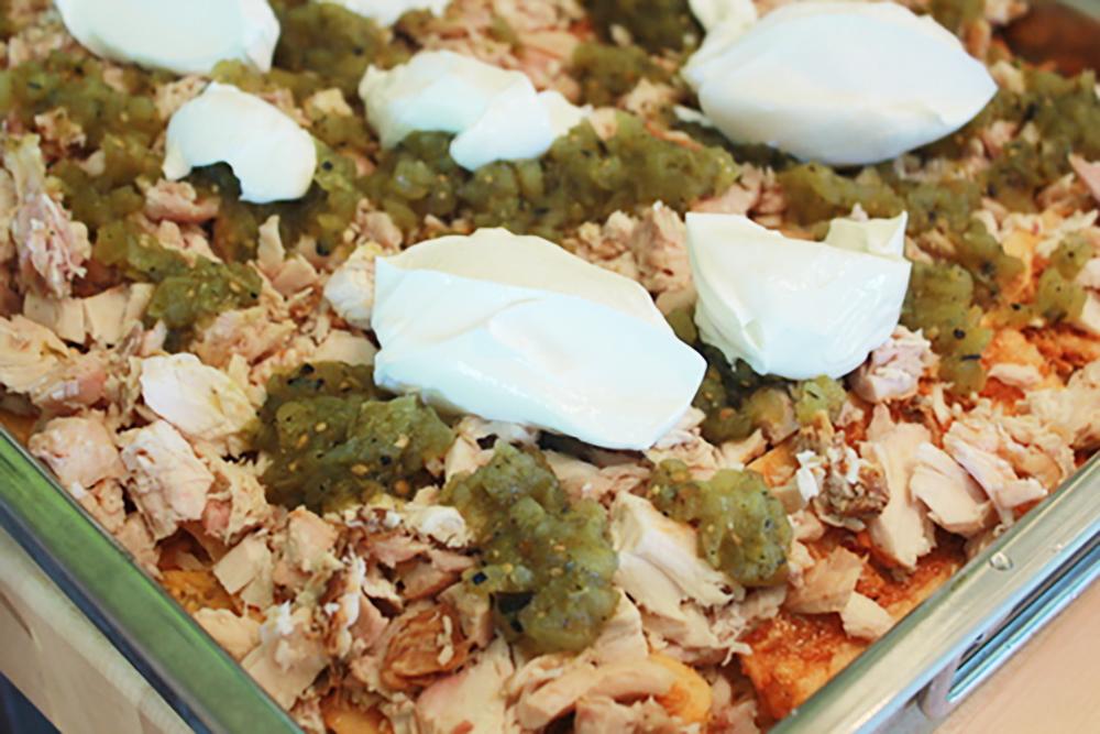 Tamale Pie Sour Creme Layering