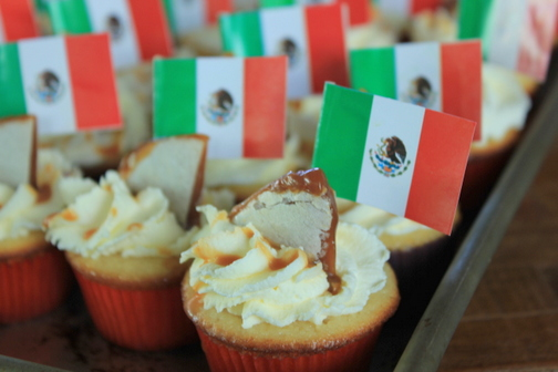 Mexican Flag Cupcakes The Mexican Flag Toothpicks