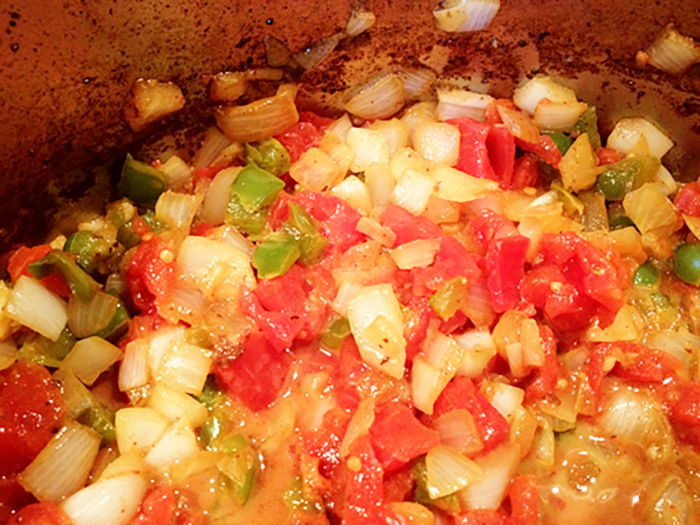 Chasens-saute-onion-peppers-tomatos