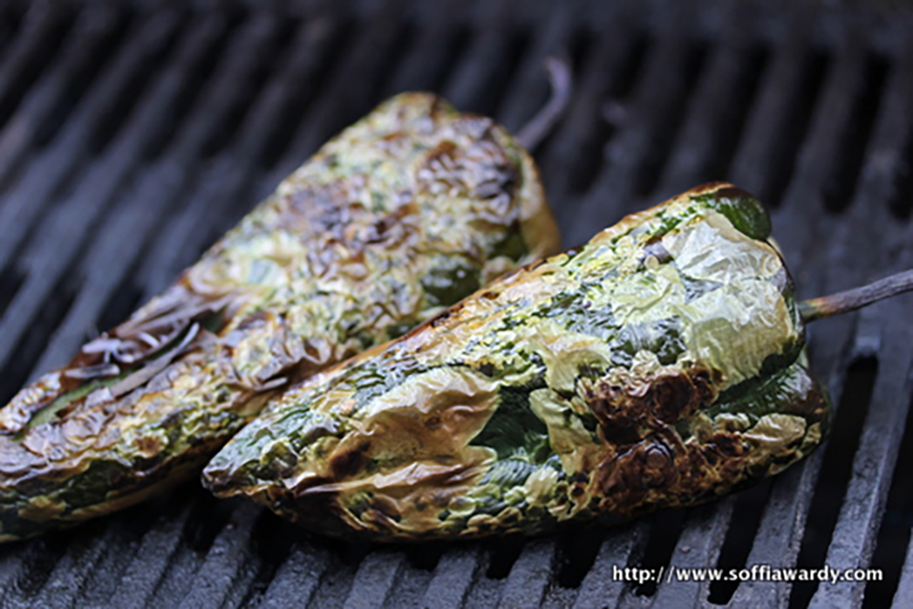 Corn Lasagna-Poblanos Roasted