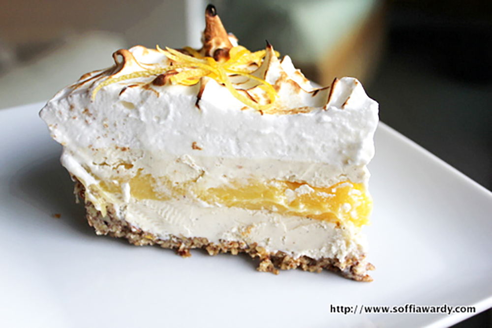 Lemon Meringue Ice Cream Pie In Toasted Pecan Crust Recipes ...