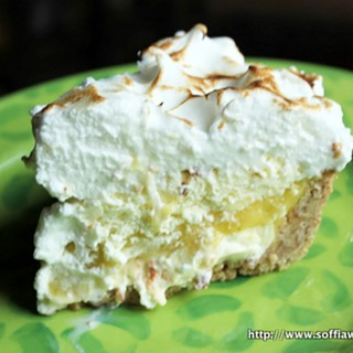 Lime Meringue Pineapple-Coconut Ice Cream Pie