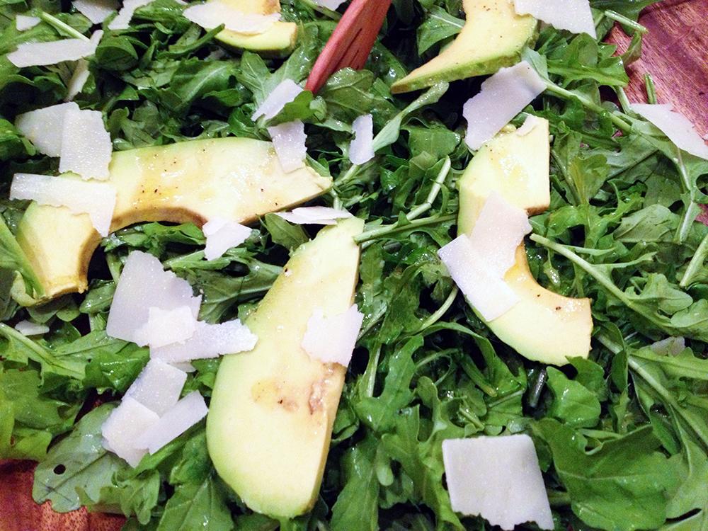 Spatchcock Hen-arugula salad