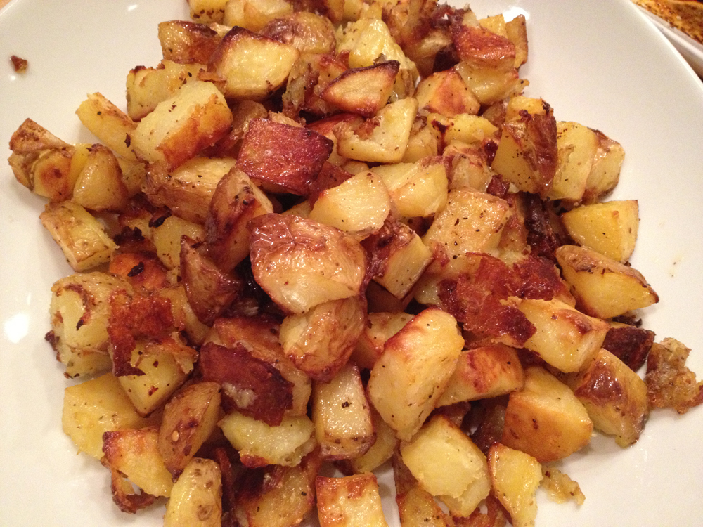 Spatchcock-Hen-crisp-potatoes