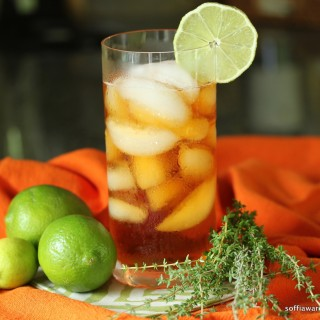Thyme and Lime Iced Tea