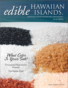 Edible Hawaiian Islands: Fall 2012