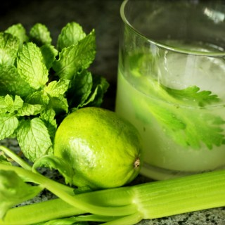 Celery Honey Mintress Cocktail