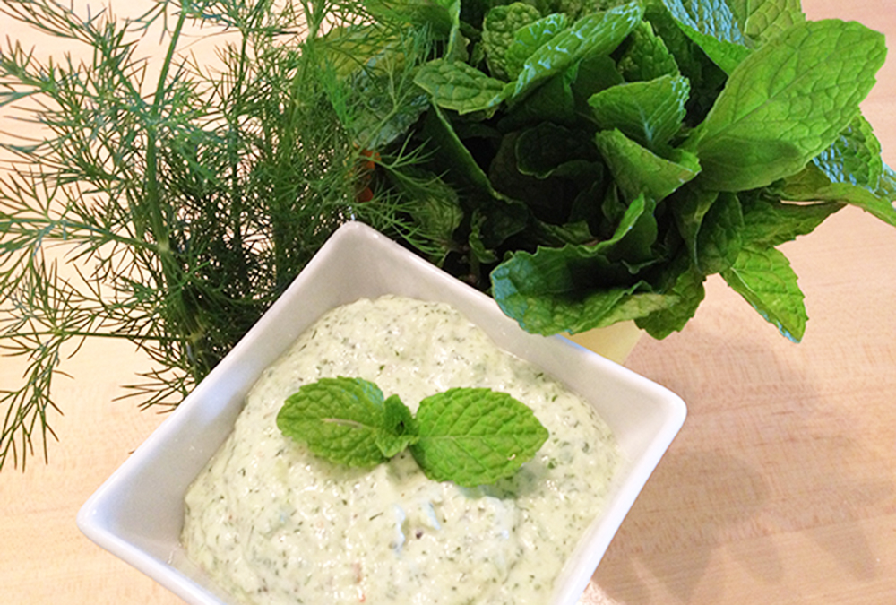 Greek yogurt sauce herbs