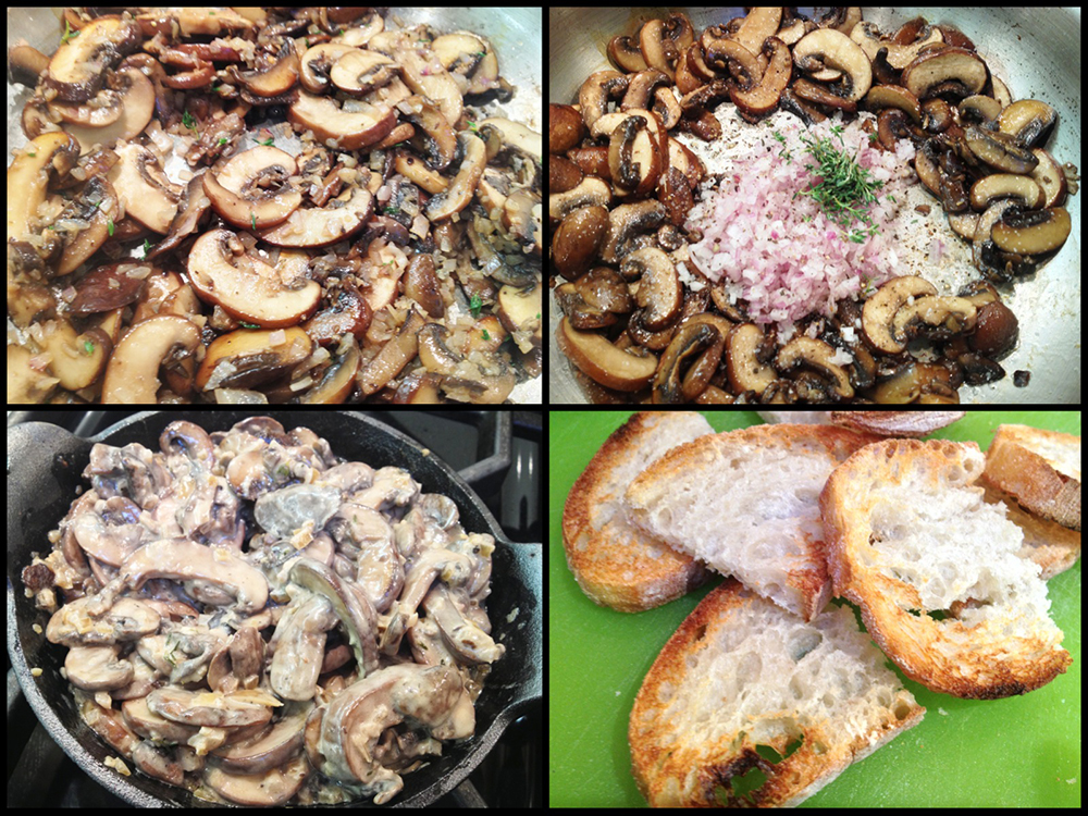 Creamed Mushroom Bruschetta-Collage 2