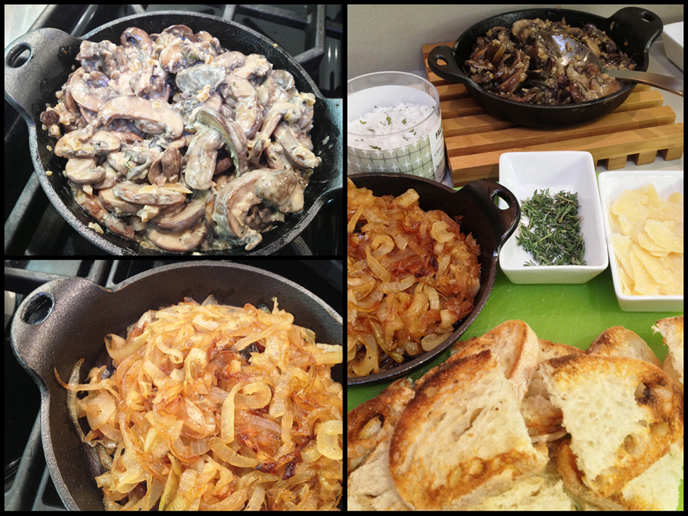 Creamed Mushroom Bruschetta-Collage 3
