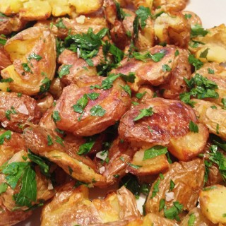 Crispy Salt & Malt Vinegar Roasted Potatoes