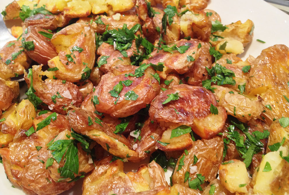 Crispy Salt & Malt Vinegar Roasted Potatoes
