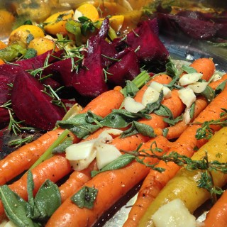 Rustic, Roasted, Savory Beets & Carrots