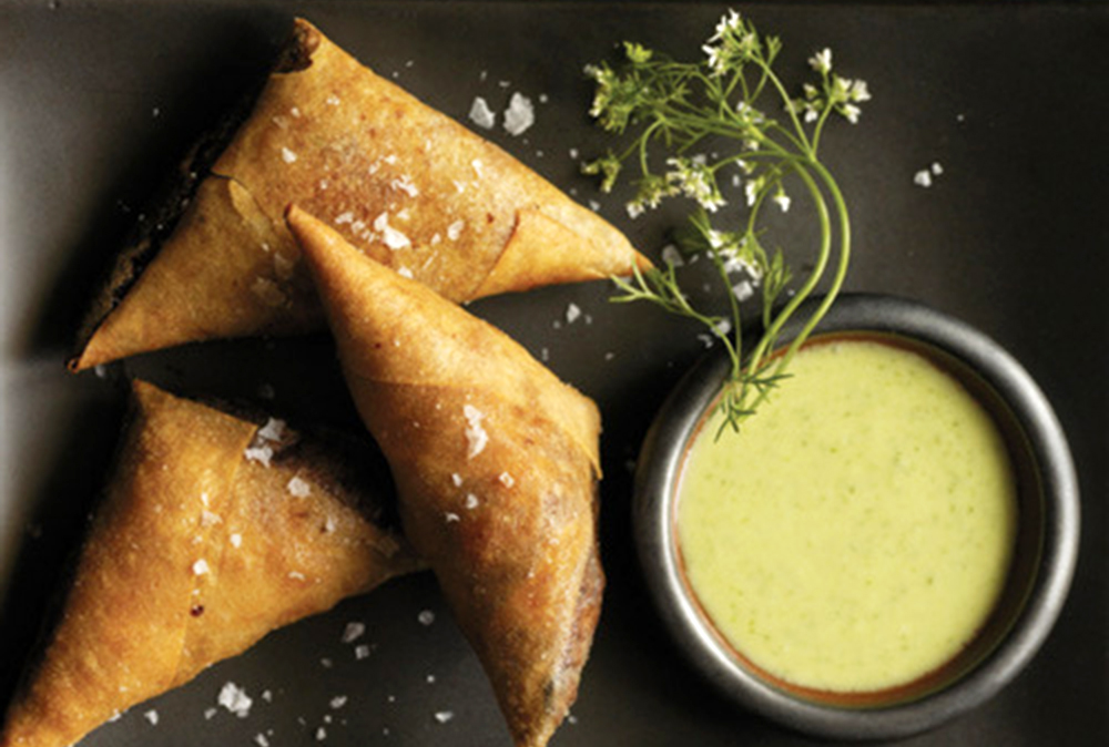 Chicken Samosas-Cilantro-Yogurt Dip | Soffia Wardy