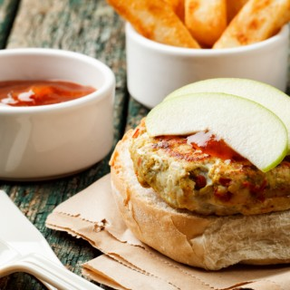 Turkey Burgers with Pear Chutney