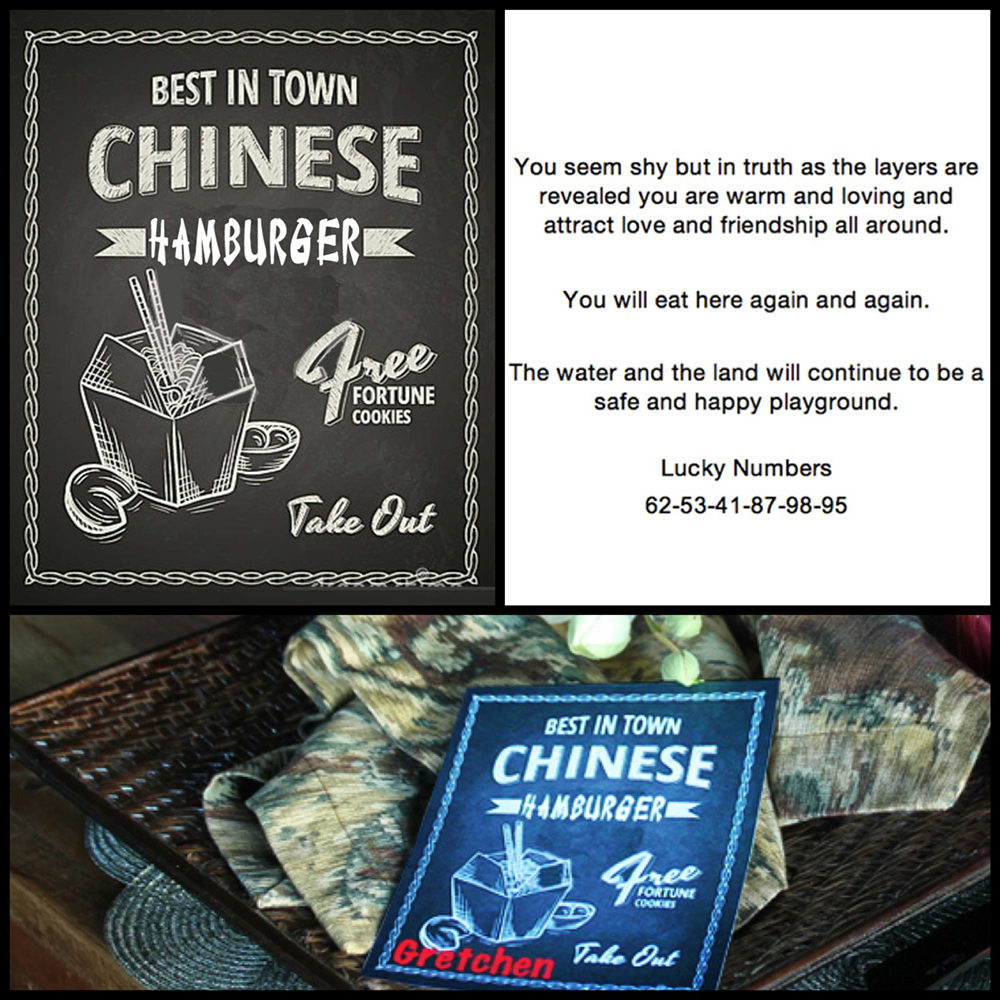 Chinese Chicken Burger-place cards