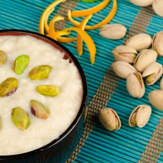 Lebanese Orange-Blossom Rice Pudding