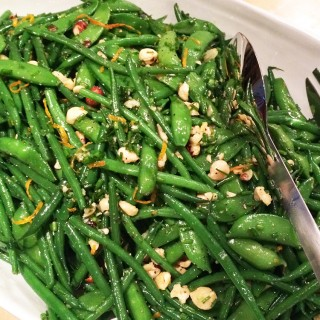 French Beans, Snap Peas, Hazelnut and Orange