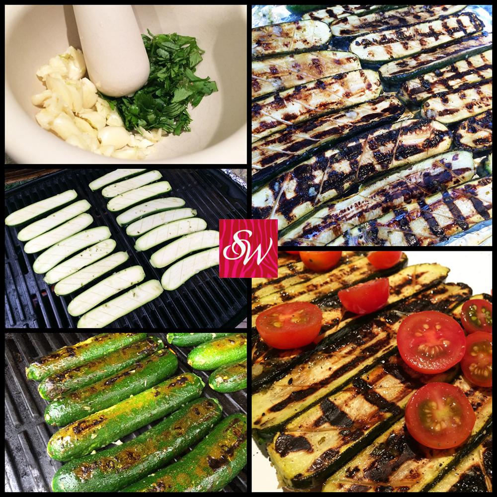 Grilled Zucchini-Thai Vinaigrette 1